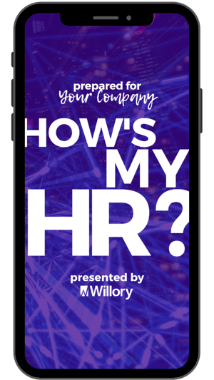 how's my HR findings report phone mockup